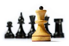 Tablero de ajedrez de madera Imágenes de archivo libres de regalías