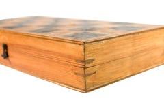 Tablero de ajedrez de madera cerrado Fotografía de archivo