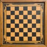 Tablero de ajedrez de madera de la vendimia foto de archivo libre de regalías