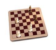 Tablero de ajedrez de madera clásico Foto de archivo