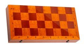 Tablero de ajedrez de madera en blanco Imagen de archivo