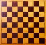 Tablero de ajedrez de madera retro Fotos de archivo
