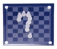 Tablero de ajedrez del ajedrez de cristal Fotos de archivo libres de regalías