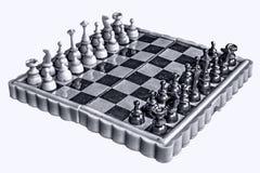 Tablero de ajedrez magnético del vintage, monocromático fotografía de archivo libre de regalías