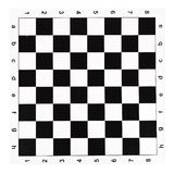 Tablero de ajedrez plano del vinilo con los controles blancos y negros Fotografía de archivo