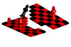 Tablero de ajedrez quebrado Imagen de archivo