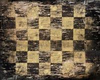 Tablero de ajedrez sucio de la vendimia Imagen de archivo libre de regalías