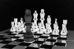 Tablero de ajedrez Uno contra uno Foto de archivo libre de regalías
