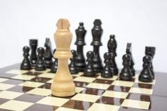 Tablero de ajedrez Uno contra uno Imagenes de archivo
