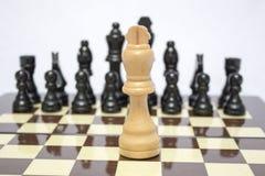Tablero de ajedrez Uno contra uno Fotografía de archivo