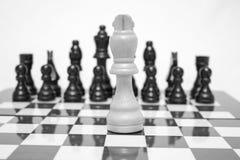 Tablero de ajedrez Uno contra uno Imágenes de archivo libres de regalías