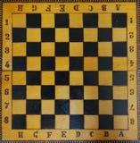 Tablero de ajedrez viejo Imagen de archivo
