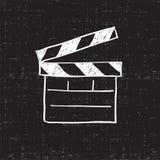 Tablero de chapaleta de la película Imágenes de archivo libres de regalías