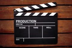 Tablero de chapaleta del cine Fotos de archivo