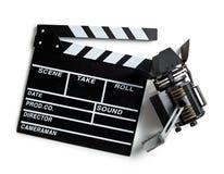 Tablero de chapaleta y luz de la película Fotografía de archivo libre de regalías