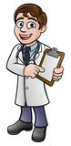 Tablero de clip del doctor Cartoon Character Holding libre illustration