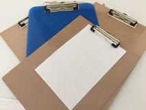 Tablero de clip para tomar notas fotografía de archivo libre de regalías