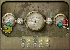 Tablero de control del panel de Steampunk fotos de archivo