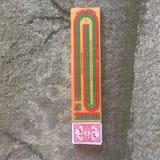 Tablero de cribbage Imagen de archivo libre de regalías