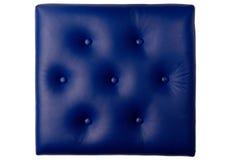 Tablero de cuero azul rellenado siete botones imágenes de archivo libres de regalías