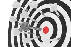 Tablero de dardos en blanco representación 3d stock de ilustración