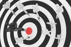 Tablero de dardos en blanco representación 3d libre illustration
