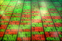 Tablero de Digitaces del mercado de acción Fotografía de archivo libre de regalías