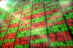 Tablero de Digitaces del mercado de acción Imagen de archivo libre de regalías