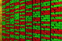 Tablero de Digitaces del mercado de acción Imagen de archivo