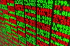 Tablero de Digitaces del mercado de acción Fotografía de archivo