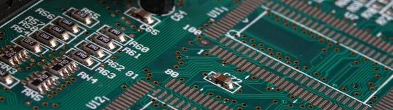 Tablero de electrónica Foto de archivo libre de regalías