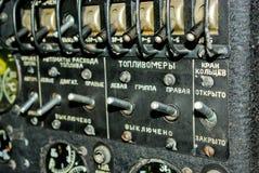 Tablero de instrumentos An-12 Foto de archivo libre de regalías