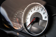 Tablero de instrumentos auto del control de velocidad Fotos de archivo libres de regalías