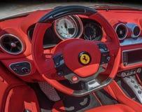 Tablero de instrumentos de Ferrari, cierre para arriba Imagen de archivo libre de regalías