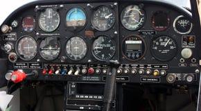 Tablero de instrumentos de la carlinga de aviones Imagen de archivo libre de regalías