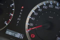 Tablero de instrumentos del coche imagen de archivo libre de regalías