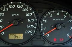 Tablero de instrumentos del coche Fotos de archivo