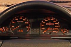 Tablero de instrumentos del coche imagen de archivo