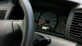 Tablero de instrumentos del coche Fotos de archivo libres de regalías