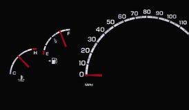 Tablero de instrumentos del coche Imágenes de archivo libres de regalías