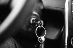 Tablero de instrumentos del coche blanco y negro Imagen de archivo