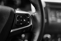 Tablero de instrumentos del coche blanco y negro Fotografía de archivo