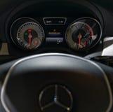 Tablero de instrumentos del coche Mercedes-Benz Imagen de archivo libre de regalías