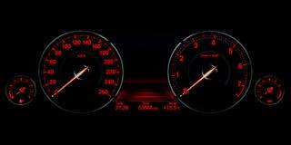 Tablero de instrumentos del control de velocidad Fotografía de archivo