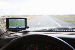 Tablero de instrumentos del vehículo con el GPS. fotos de archivo libres de regalías