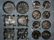 Tablero de instrumentos del vuelo del vintage Foto de archivo
