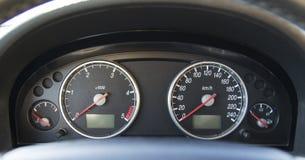 Tablero de instrumentos moderno estándar del coche Imagen de archivo