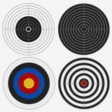 Tablero de la blanco para la competencia, juego de los dardos Vector libre illustration