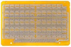Tablero de la creación de un prototipo para los microprocesadores fotografía de archivo