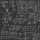 Tablero de la fórmula de la álgebra Fotografía de archivo libre de regalías